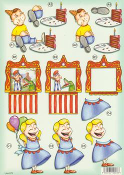 Childrens Birthday Party - Eating Cake - Punch & Judy - Balloon Girl -  672 .