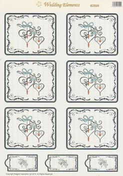 Hearts & Bows - Die Cut Toppers - E1020 . *