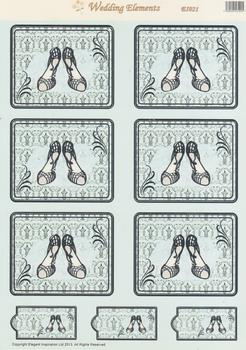 Wedding Shoes - Die Cut Toppers - E1021 .
