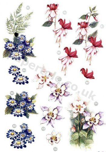 Floral Die Cut Sheet - 121 Die Cuts papertole.co.uk