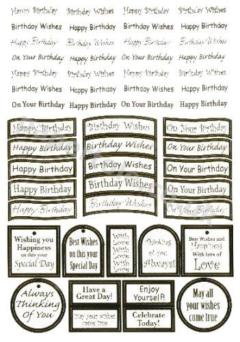 Birthday - 47 Silver Die Cut Birthday Messages Die Cuts papertole.co.uk
