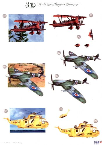 Male Die Cut Sheet - Planes 3 push out projects 445 Die Cuts papertole.co.uk
