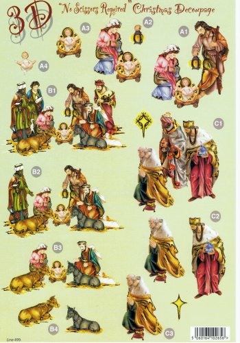 Die Cut Sheet - The Nativity 499 3d Card Art papertole.co.uk