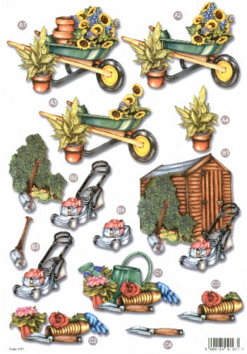 New Male Die Cuts - Gardening  495 Die Cuts AS SEEN ON T.V