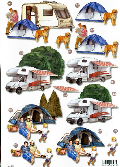New Male Die Cuts - Caravaning 497 Die Cuts AS SEEN ON T.V