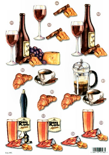 New Male Die Cuts - Drinking - 498  Die Cuts AS SEEN ON T.V