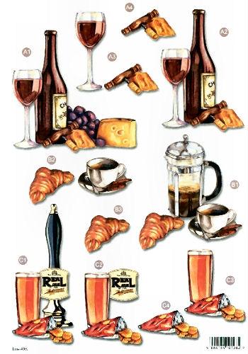 New Male Die Cuts - Drinking - 498  Die Cuts AS SEEN ON T.V