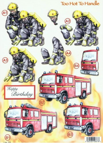 New  Die Cuts - Too Hot To Handle - Firemen -  722 Die Cuts papertole.co.uk