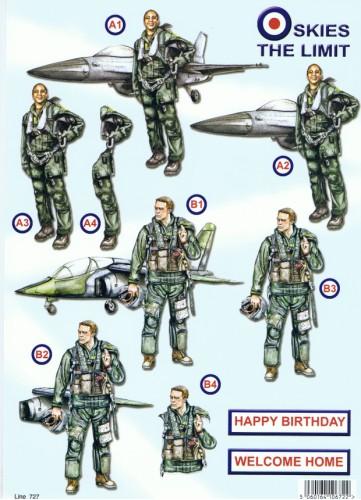 New  Die Cuts - Skies The Limit - Air Force 192 Die Cuts papertole.co.uk