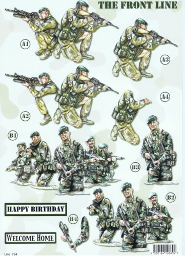 New  Die Cuts - The Front Line - Army  724 Die Cuts papertole.co.uk