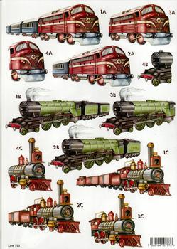A4 Die cut Mens Machine - Trains 793  . papertole.co.uk