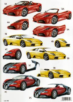 A4 Die cut Mens Machine - Ferrari 786 . papertole.co.uk