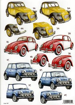 A4 Die cut Mens Machine - 2 CV 787 . papertole.co.uk