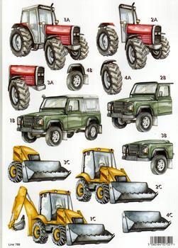 A4 Die cut Mens Machine - Tractors 788 . papertole.co.uk