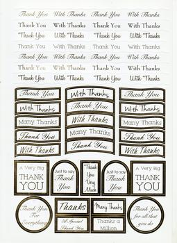 Thank You - Gold Die Cut Thank You Messages .  Die-cut captions