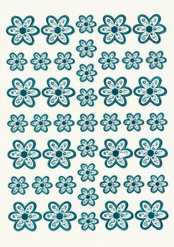 Blue Die Cut Flower Topper Sheet W FANTASTIC OFFER!!!