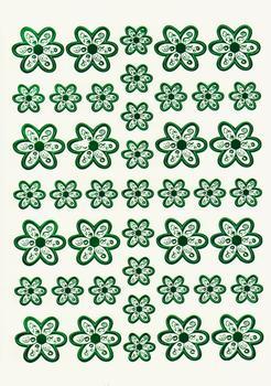Green Die Cut Flower Topper Sheet aA FANTASTIC OFFER!!!