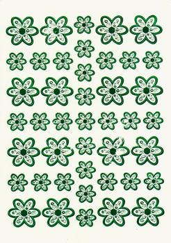 Green Die Cut Flower Topper Sheet - was 29p FANTASTIC OFFER!!!