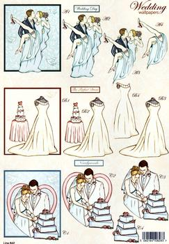 Wedding Die Cut - Dancing, Wedding Dress and Wedding Cake  842 . papertole.co.uk