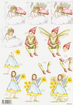Forever Fairies - Toadstool girl, Elf and Daffodil Girl 869 - . papertole.co.uk