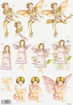 Forever Fairies - Fairy on Branch, Flower Fairy and Thinking Fairy 871 . papertole.co.uk