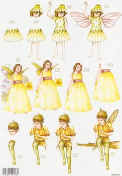 Flower Fairies - 3 Fairies 873 . papertole.co.uk