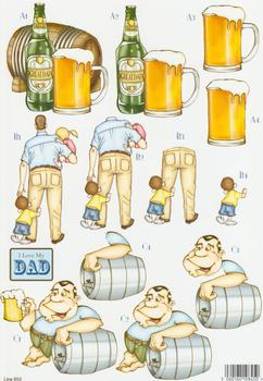 Die Cut - Male - Great Dad, I love my Dad & A Doting 853 . papertole.co.uk