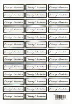 Wedding Die Cut - Evening Invitation Caption Sheet - 855 qq papertole.co.uk