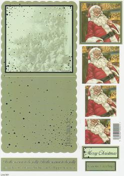 Die Cut Sheet - Santa - Including Free Envelope 931 t Silver Foil Highlights
