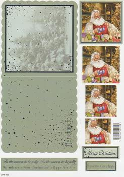 Die Cut Sheet - Santa making Toys - Including Free Envelope 932  t Silver Foil Highlights