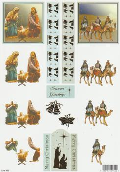 Die Cut Sheet - Nativity 952 . Silver Foil Highlights