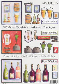 .Sports & Hobbies....Ale Drinking, Briefcase & Pen and Bottles of Wine 654 . www.papertole.co.uk
