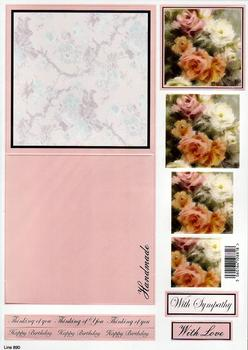 Sympathy/Thinking of You - Card, FREE Envelope and Foiled Caption 890 . *