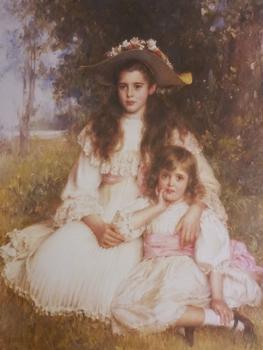 Robert Edward Morrison (1852 - 1923) Print - Sisters -  16