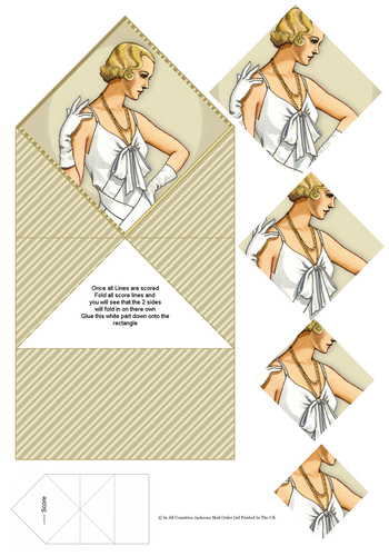 Diamond Fold Card - Fashion 1 3d Card Art RRP 75p