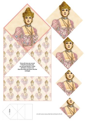 Diamond Fold Card - Fashion 2 3d Card Art RRP 75p