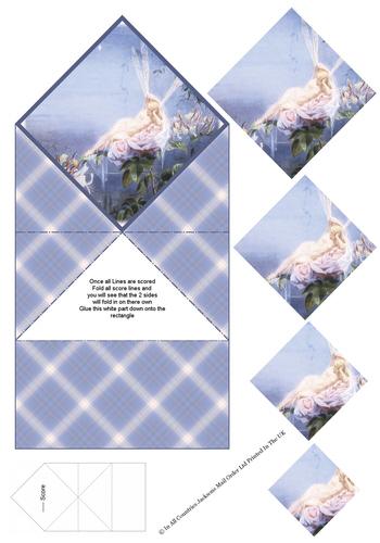 Diamond Fold Card - Fairy 3d Card Art RRP 75p