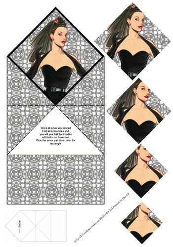 Diamond Fold Card - Fashion 1 3d Card Art RRP 75p
