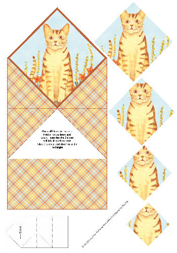 Diamond Double Fold Card - Cats 3d Card Art RRP 75p