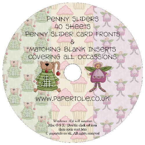 CD 18 - Penny Sliders - 20 Penny Slider Sheets and 20 matching inserts Media RRP £14.99
