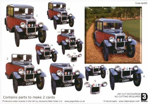 Die Cut Step by step Photopics - Classic Car Die Cuts RRP �1.50