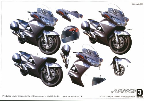 Die Cut Step by step Photopics - Racing Bike Die Cuts RRP £1.50