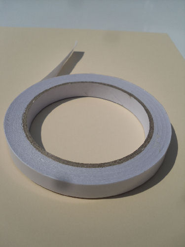 12mm wide x 25M double sided sticky tape £0.79 papertole.co.uk