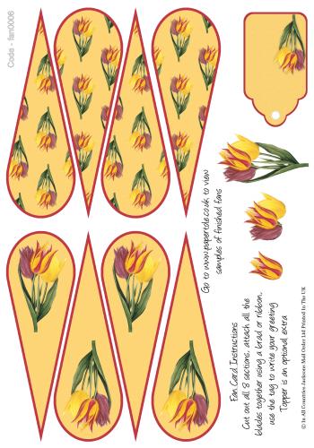 Fan Card - Tulips 3d Card Art RRP 85p