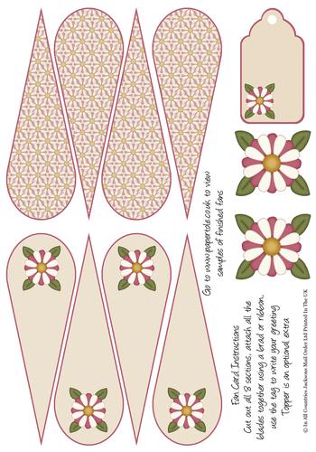Fan Card - Flowers 3d Card Art RRP 85p