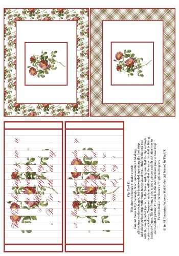 Flip Card - Floral Birthday 3d Card Art RRP 75p