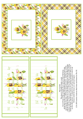 Flip Card - Birthday Pansies 3d Card Art RRP 75p