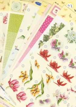 Flower Pack - 10 Different sheets including step by step and backing sheets . various