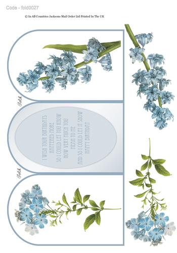 Tri Fold Card - Floral Birthday 2 3D Card Art RRP 75p
