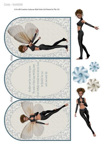 Tri Fold Card - Fairy Birthday 1 3d Card Art RRP 75p